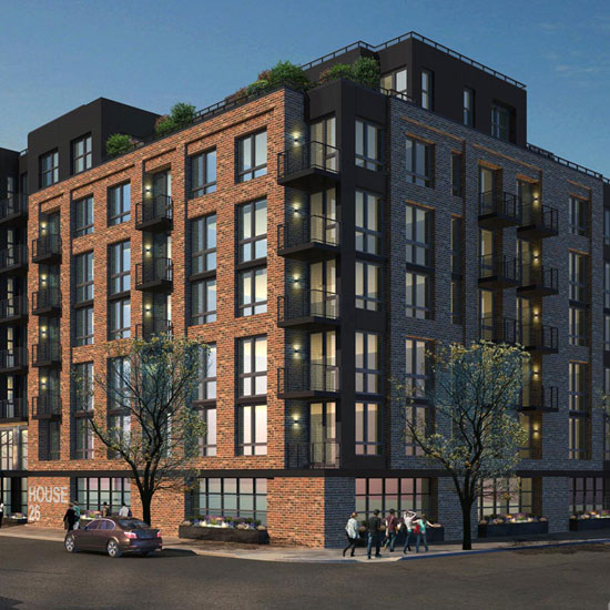 West New Luxury Apartment Building In Greenpoint Brooklyn